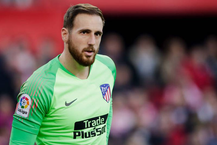 Jan Oblak in action for Atletico