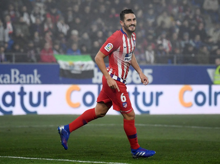 Koke in action for Atletico Madrid.