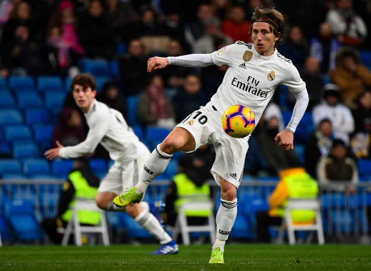 Luka Modric in action for Real Madrid.